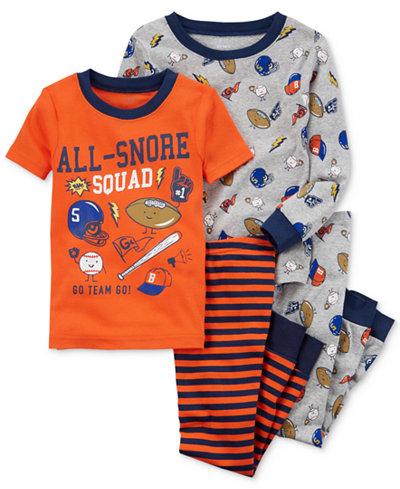 Carter's 4-Pc. Sports-Print Cotton Pajama Set, Baby Boys