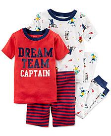 Carter's 4-Pc. Printed Cotton Pajama Set, Baby Boys