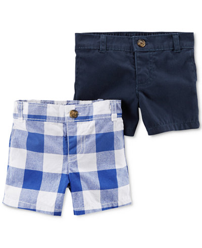 Carter's 2-Pack Cotton Shorts, Baby Boys