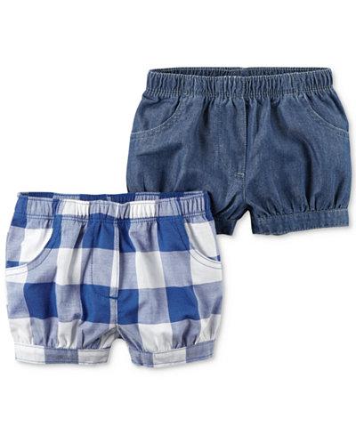 Carter's 2-Pack Shorts, Baby Girls