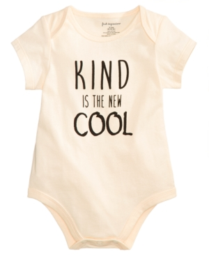 First Impressions Baby Boys Kind Is The New Cool Cotton Bodysuit Created for Macys