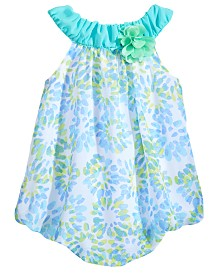 First Impressions Starburst-Print Bubble Romper, Baby Girls, Created for Macy's