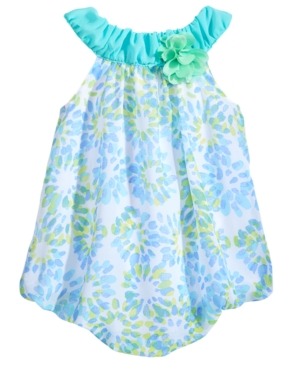 First Impressions StarburstPrint Bubble Romper Baby Girls Created for Macys