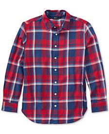 Ralph Lauren Plaid Cotton Shirt, Big Girls