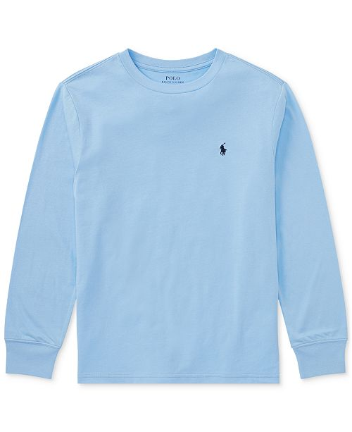 Polo Ralph T Sleeve ShirtBig Cotton Lauren Boys Long kPuwZOXTi