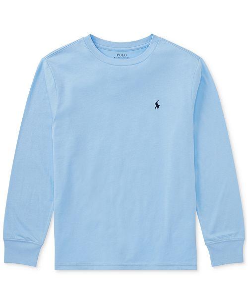 a60250291 Polo Ralph Lauren Ralph Lauren Cotton Long-Sleeve T-Shirt, Big Boys