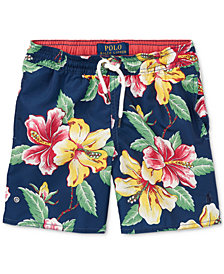Ralph Lauren Printed Swim Trunks, Little Boys