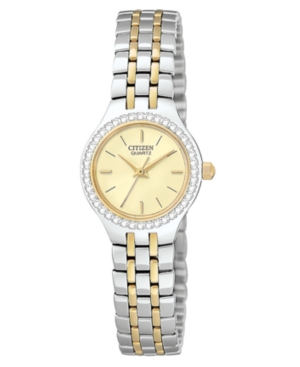 Citizen Women's Two Tone Stainless Steel Bracelet Watch 22mm EJ6044-51P