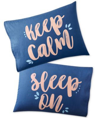 Set of 2 Paired Pillowcases, Only at Macy's