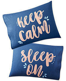 Whim by Martha Stewart Collection Set of 2 Paired Pillowcases, Only at Macy's