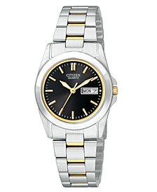 Women's Two Tone Stainless Steel Bracelet Watch 28mm EQ05654-59E