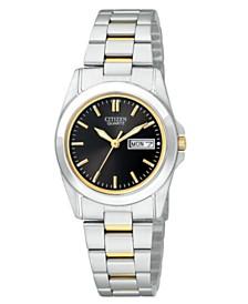 Citizen Women's Two Tone Stainless Steel Bracelet Watch 28mm EQ05654-59E