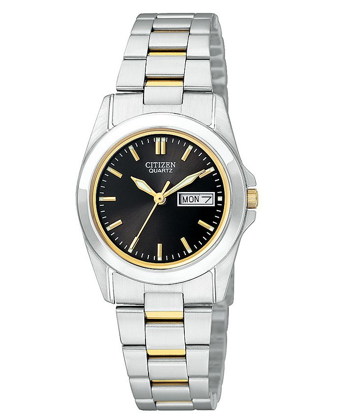 Citizen - Women's Two Tone Stainless Steel Bracelet Watch 28mm EQ05654-59E