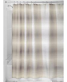 """Interdesign Enzo 72"""" x 72"""" Stripe Shower Curtain"""