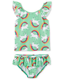 Carter's 2-Pc. Unicorn-Print Tankini Swimsuit, Toddler Girls
