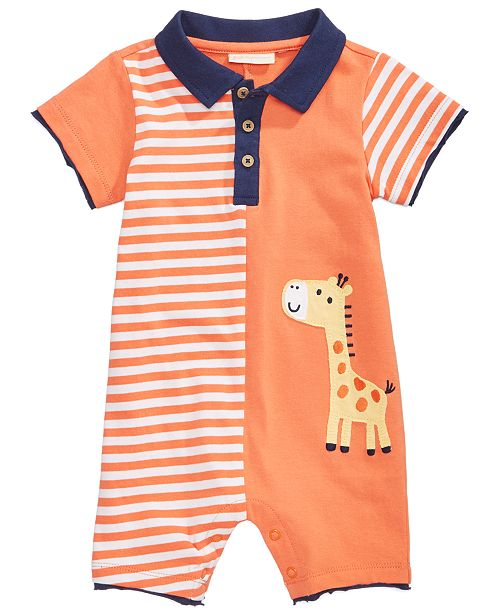 First Impressions Cotton Giraffe Romper, Baby Boys, Created for Macy's