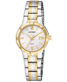 Citizen Women's Two-Tone Stainless Steel Bracelet Watch 25mm