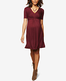 Motherhood Maternity Twist-Front A-line Dress