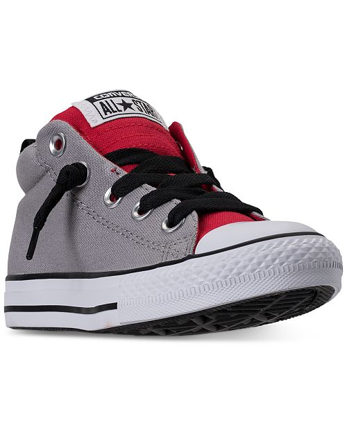 cd235d7cc379a8 ... Converse Little Boys  Chuck Taylor All Star Street Mid Casual Sneakers  from Finish ...