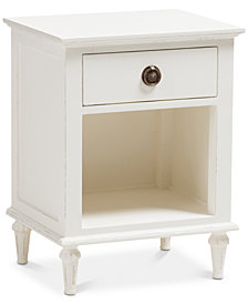 Venezia 1-Drawer Nightstand, Quick Ship