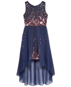 Crystal Doll Sequin Overskirt Dress Big Girls (716)