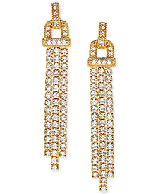 Arabella Swarovski Zirconia Chandelier Earrings in 14k Gold-Plated Sterling Silver