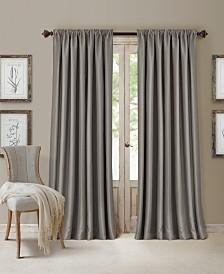 Elrene All Seasons Blackout Rod Pocket/Back Tab 52'' x 108'' Curtain Panel