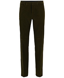 BOSS Men's Slim-Fit Corduroy Dress Pants