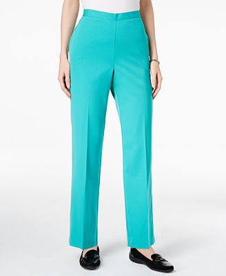Alfred Dunner Montego Bay Pull-On Straight-Leg Pants