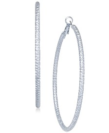 "Thalia Sodi Textured Extra Large 3.75"" Hoop Earrings, Created for Macy's"