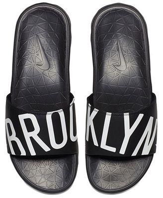 Nike Men's Brooklyn Nets Benassi Solarsoft Slides