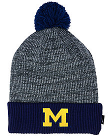 Nike Michigan Wolverines Heather Pom Knit Hat