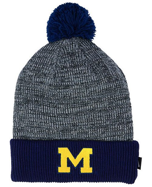 3c5cf5c1cef Nike Michigan Wolverines Heather Pom Knit Hat   Reviews - Sports Fan ...