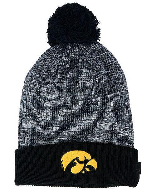 7dd8b6e7d8e27 Nike Iowa Hawkeyes Heather Pom Knit Hat - Sports Fan Shop By Lids ...