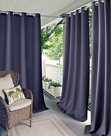 "Elrene Connor 52"" x 108"" Indoor/Outdoor Grommet Panel, Water-Repellent and 50+ UV Protection"