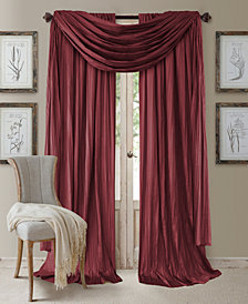 "Elrene Athena Rod Pocket 52"" x 84"" Pair of Curtain Panels with Scarf Valance, Set of 3"