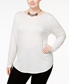 Celebrity Pink Plus Size Strappy Back Top
