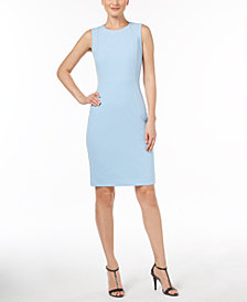 Calvin Klein Scuba Crepe Sheath Dress, Regular & Petite Sizes