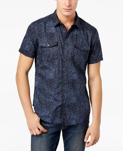 Calvin Klein Jeans Men's Dot Printed Slim Fit Shirt
