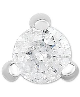 macy s diamond accent single stud earring in 14k white gold Diamond Drop Earrings main image main image