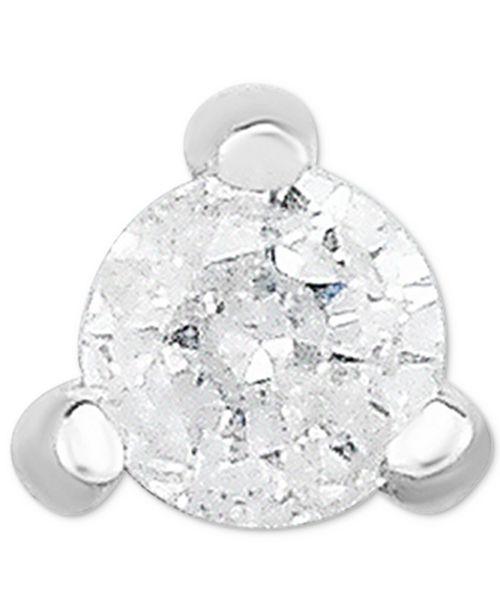 Macy's Diamond Accent Single Stud Earring in 14k White Gold
