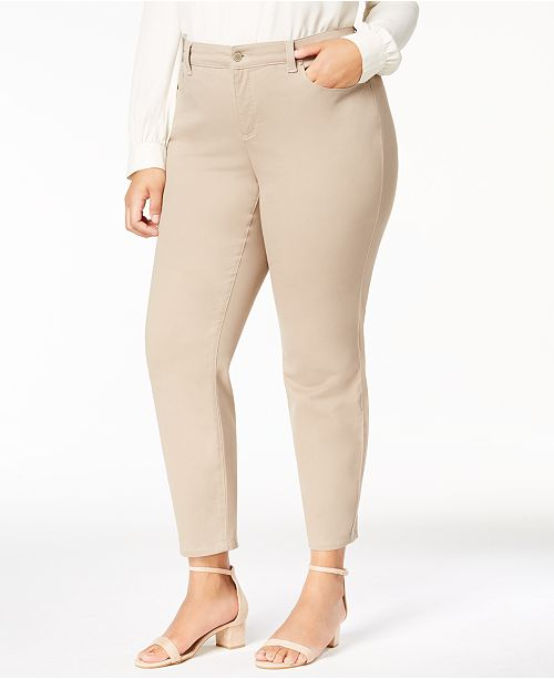Charter Club Plus Size Bristol Tummy-Control Ankle Jeans, Created for Macy's