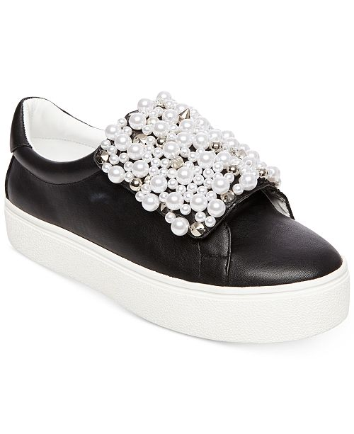 4a99bbfdba6 Steve Madden Women s Lion Pearl Embellished Sneakers   Reviews ...