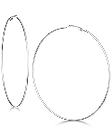 "GUESS 3 1/4"" Large Hoop Earrings"