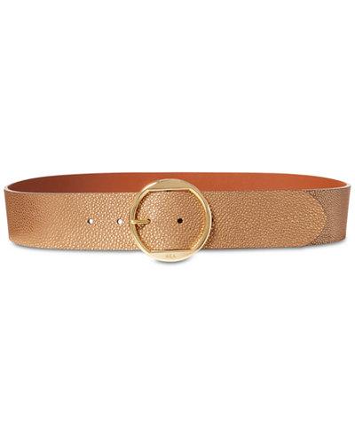Lauren Ralph Lauren Round-Buckle Belt