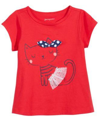 Print T-Shirt, Baby Girls, Created for Macy's