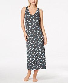 Alfani Poppy-Print Racerback Nightgown, Created for Macy's