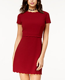 B Darlin Juniors' Scalloped Sheath Dress
