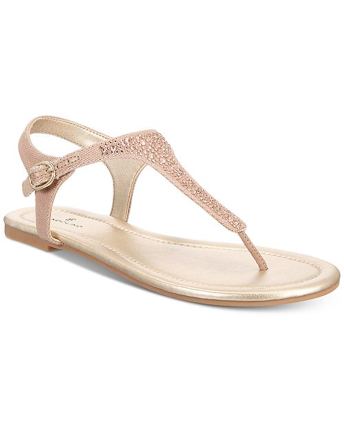 0a286f57a071 Bandolino Kyrie Embellished Flat Sandals   Reviews - Sandals   Flip ...