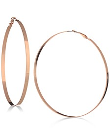 "3 1/2"" Flat-Edge Hoop Earrings"
